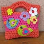 Girls Bag / Purse With Bir..