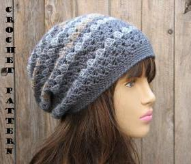 Crochet Hat - Slouchy Hat, Crochet Pattern PDF,Easy, Great For Beginners, Pattern No. 27