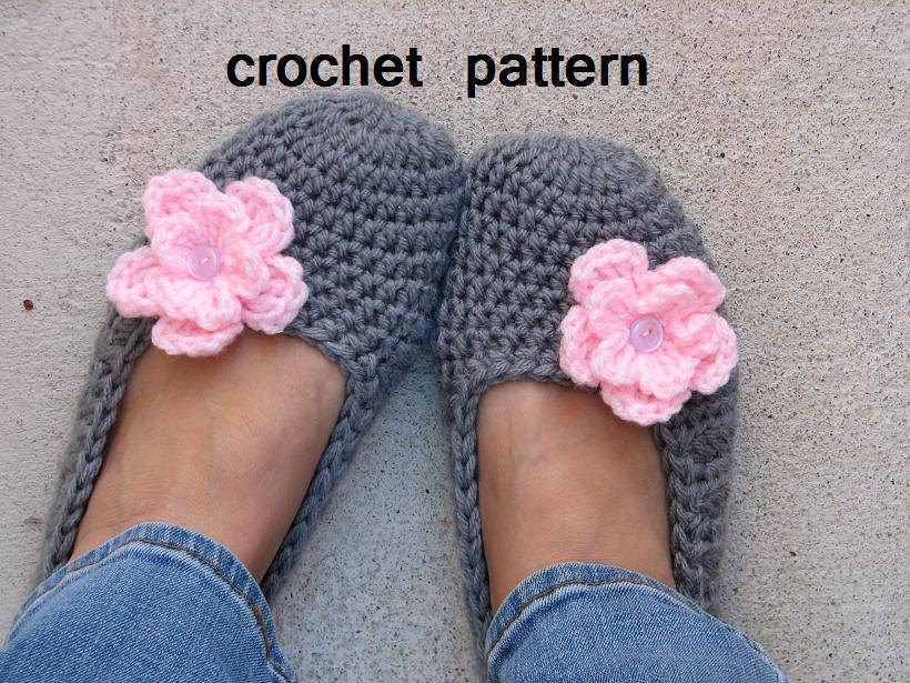 Crochet Easy Beginner Patterns : Adult Slippers Crochet Pattern PDF,Easy, Great For ...