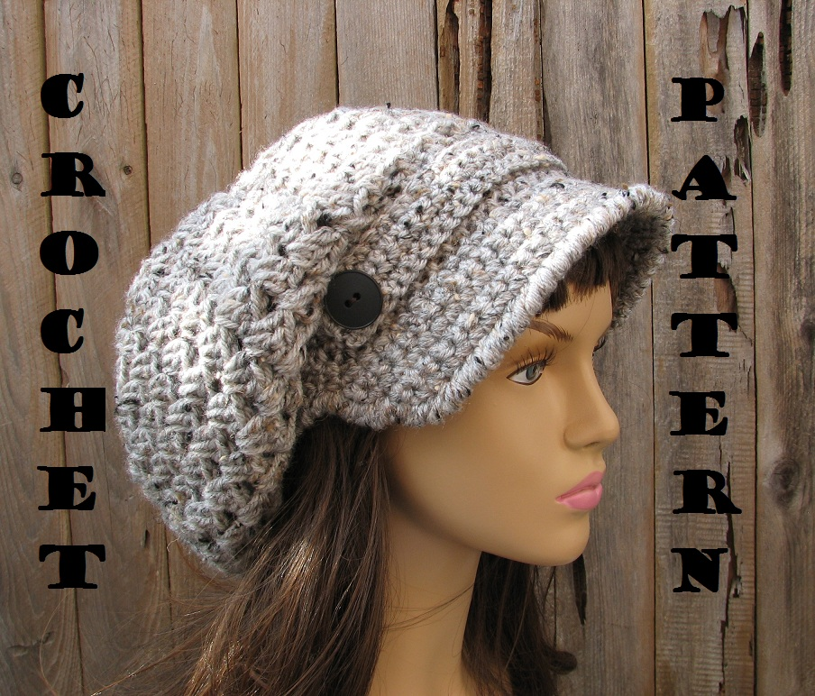 Easy Beginner Crochet Patterns For Hats : CROCHET PATTERN!!! Crochet Hat - Newsboy Hat Hat, Crochet ...