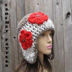 Crochet Ear Flap Hat - Crochet Pattern PDF,Easy, Great for Beginners, Pattern No. 28