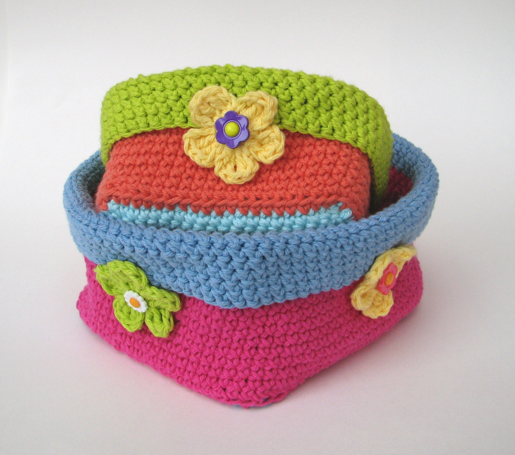 Crochet Square Patterns Crochet Square Basket 2