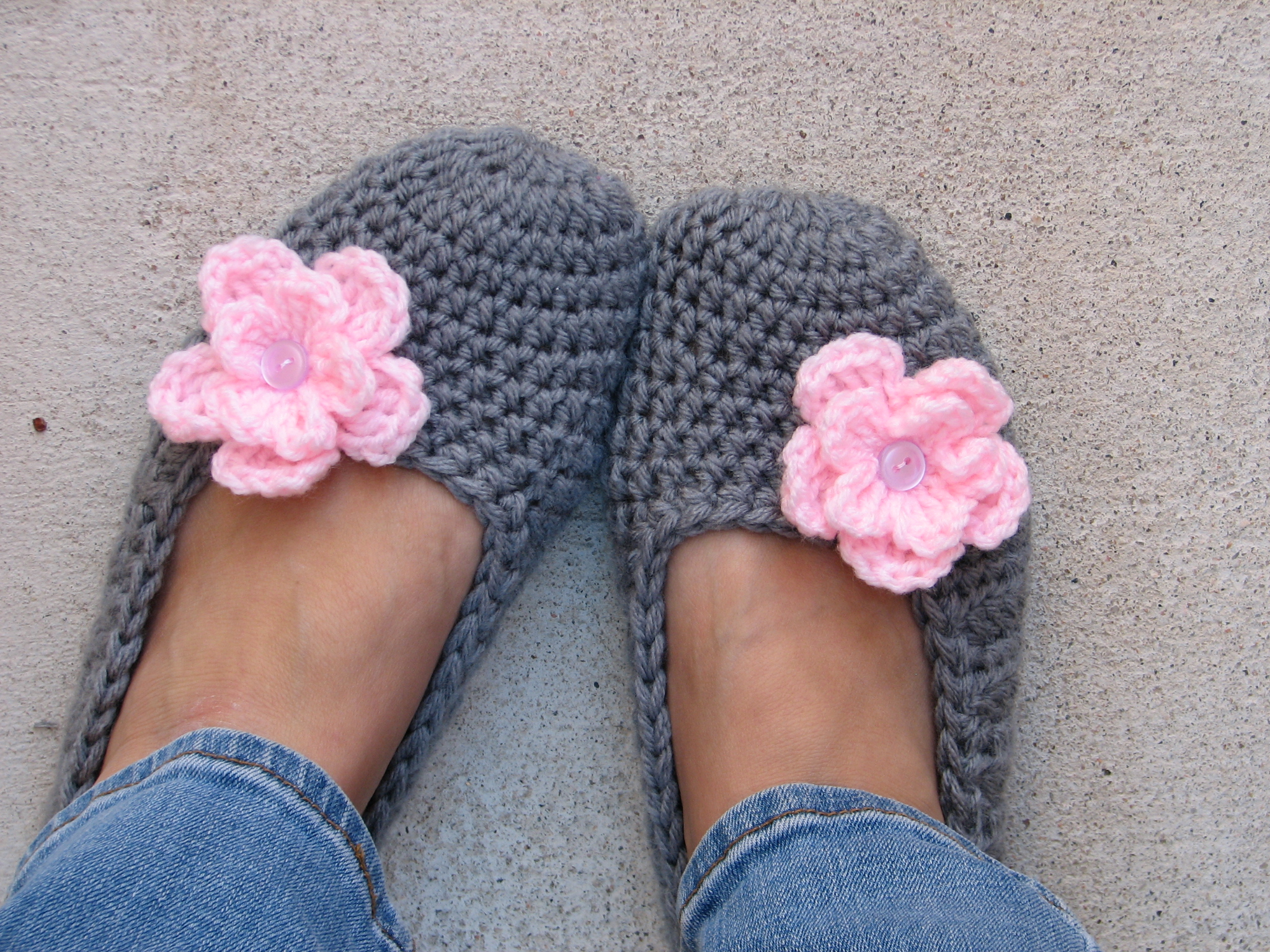 Free Crochet Patterns Booties For Adults : Adult Slippers Crochet Pattern PDF,Easy, Great For ...