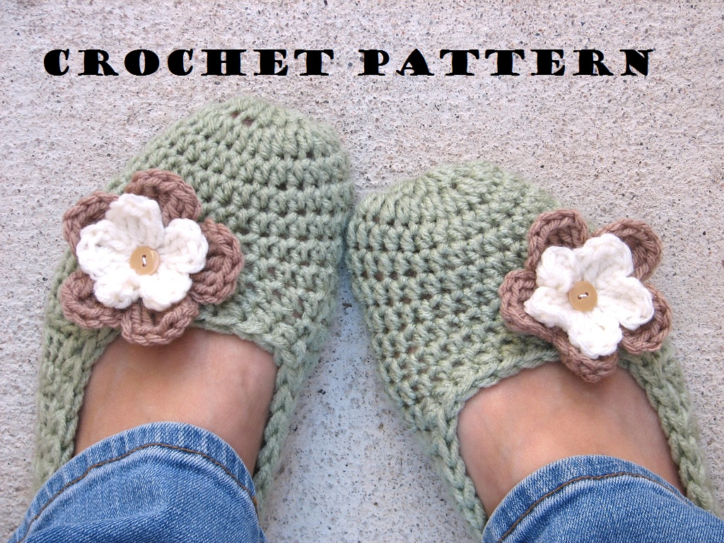 How To Crochet Beginner Patterns : Adult Slippers Crochet Pattern PDF,Easy, Great For ...